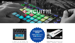 Novation kezdooldal