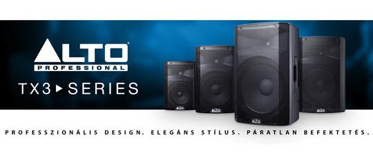 Alto PRO TX3 sorozat - új aktív hangfalak kedvező áron